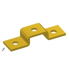 353/02053  Bracket, U Shape 21mm 4047 ZPY